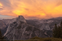 Faces of half dome : Sunset