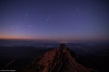 Meteor Showers On Rajgad