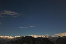 Moonlit peaks